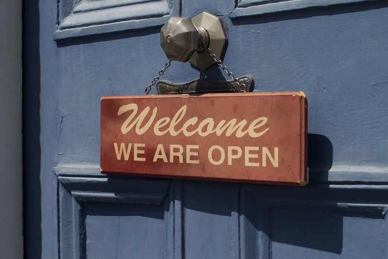 Open is Welcoming -- CC0 Alan Levine