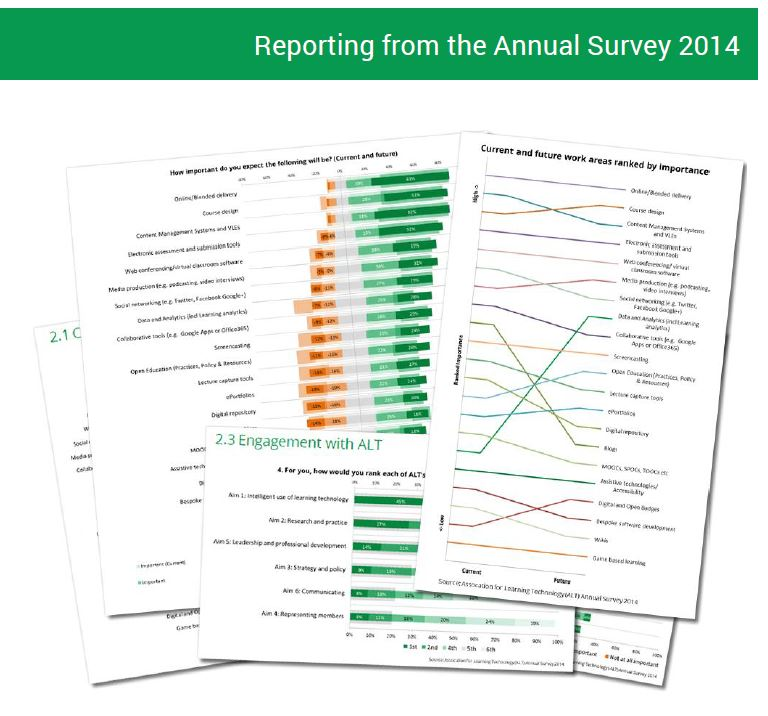 Reporting from the ALT Annual Survey 2014