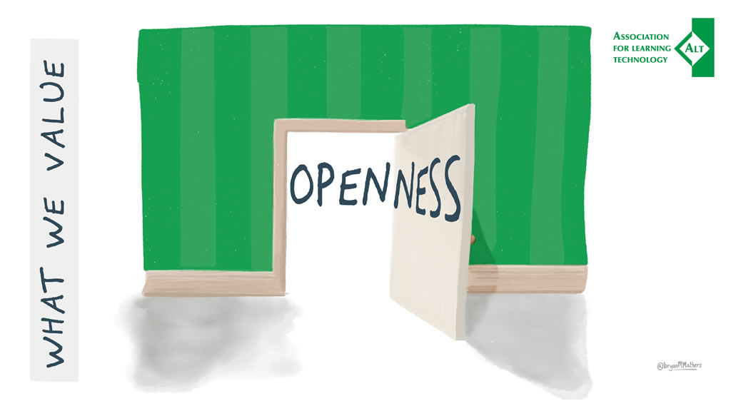 ALT's value 'Openness' illustrated by Bryan Mathers