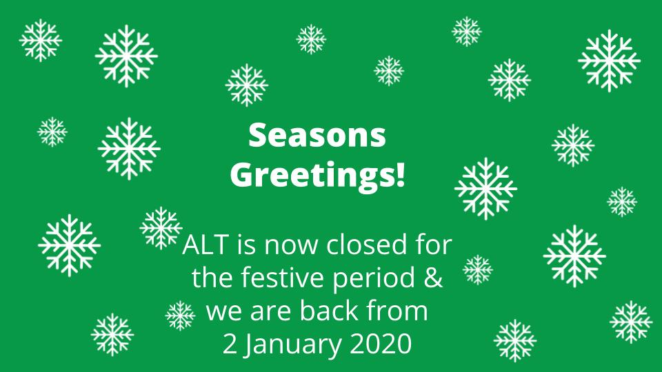 Season's Greetings from ALT