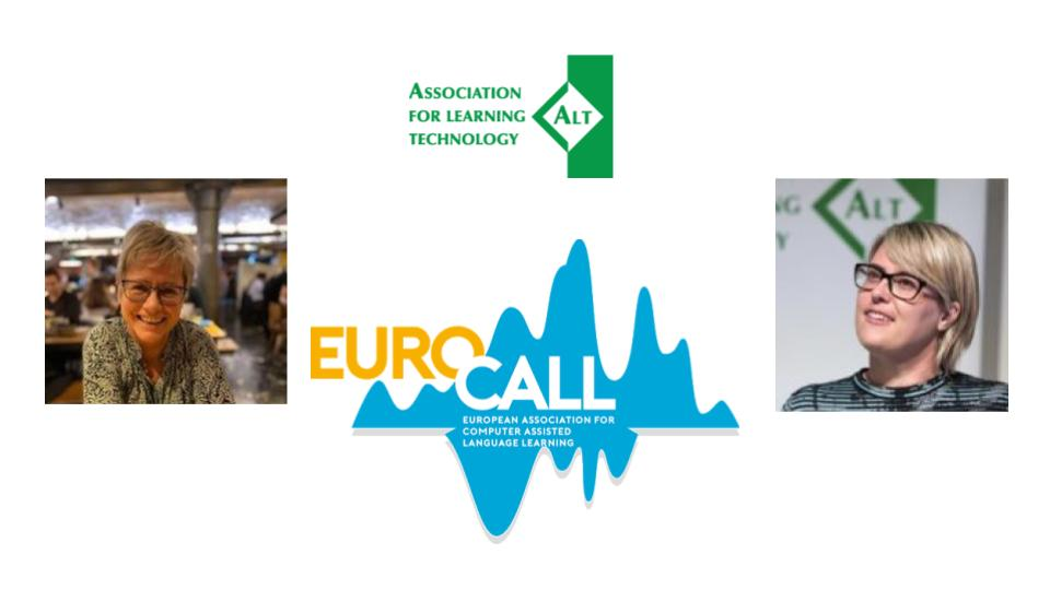 Image of Mirjam Hauck and Maren Deepwell, and ALT and Eurocall logos