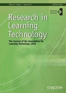 Image of Research in Learning Technology cover
