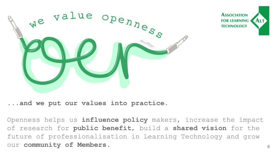 We value openness graphic