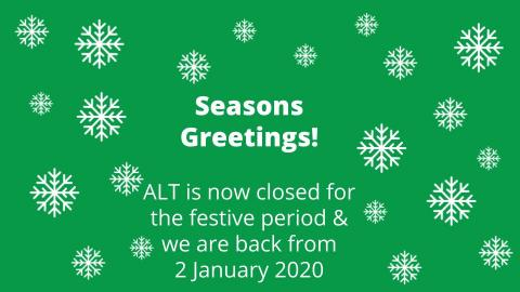Season's Greetings from ALT