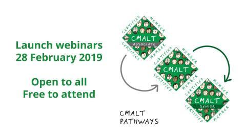 Launch image for the CMALT Webinars on 28 February